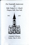 Anniversary Book; 100th; 2002 by Holy Trinity Roman Catholic Church and Cemetery