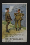 Tight Army Trousers (1) by WWI Postcards from the Richard J. Whittington Collection