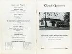 Anniversary Book; 30th; 1963 by Hyde Park Presbyterian Church