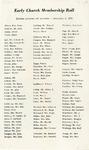 History of Church; Membership Roll; 1934 by Hyde Park Presbyterian Church