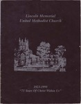 1923-1998; Church Books; Lincoln Memorial United Methodist Church
