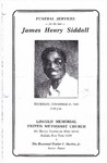 1985-11-21; Pamphlets; Funeral services for the late James Henry Siddall
