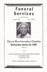 1987-01-27; Pamphlets; Thyra Merriweather Charles