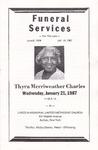 1987-01-27; Pamphlets; Thyra Merriweather Charles
