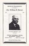 1987-02-14; Pamphlets; Service of Thanksgiving for the life of Rev William H Horner