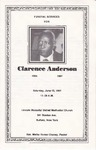 1987-06-13; Pamphlets; Funeral Service for Clarence Anderson