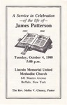 1988-10-04; Pamphlets; A Service in Celebration of the life of James Patterson