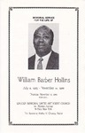 1988-11-14; Pamphlets; Memorial Service for the Life of William Barber Hollins