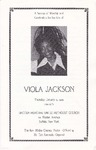 1989-01-12; Pamphlets; A Service of Worship and Celebration for the Life of Viola Jackson