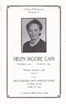 1989-09-07; Pamphlets; A Service of Thanksgiving for the Life of Helen Moore Cain