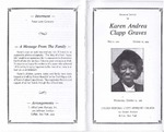 1989-10-25; Pamphlets; Memorial Service for Karen Andrea Clapp Graves
