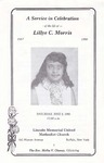 1990-06-02; Pamphlets; A Service in Celebration of the Life of Lillye C Morris