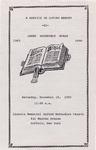 1990-11-10; Pamphlets; A Service in Loving Memory of James Roosevelt Evans