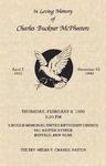 1990-12-12; Pamphlets; In Loving Memory of Charles Buckner McPheeters