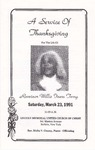 1991-03-23; Pamphlets; A Service of Thanksgiving for the Life of Reveinor Willie Fears Terry