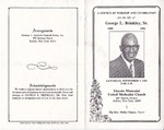 1991-09-07; Pamphlets; A Service of Worship and Celebration for the Life of Georger L Brinkley Sr.