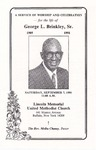 1991-09-07; Pamphlets; A Service of Worship and Celebration for the Life of George L Brinkley Sr.