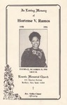 1991-10-05; Pamphlets; In Loving Memory of Hortse V Ramos