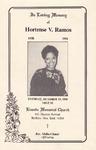 1991-10-05; Pamphlets; In Loving Memory of Hortse V Ramos