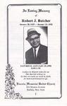 1992-01-25; Pamphlets; In Loving Memory of Robert J Butcher