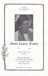 1992-07-25; Pamphlets; A Service In Loving Memory of Anna Laura Evans