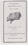 1992-10-06; Pamphlets; A Service of Worship and Celebration for the Life of Inell A Tillman