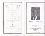 1993-01-30; Pamphlets; A Service Celebration in Loving Memory of Homer L Smith Sr.