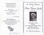 1993-07-02; Pamphlets; In Loving Memory of Alma Humes Goode