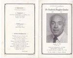 1994-08-15; Pamphlets; A Service In Loving Memory of Dr. Frederic Douglass Gordon