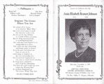 1994-11-05; Pamphlets; Service to Celebrate the Life of Anita Elizabeth Bennett Johnson