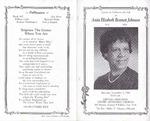 1994-11-05; Pamphlets; Service to Celebrate the Life of Anita Elizabeth Bennett Johnson