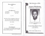 1995-09-23; Pamphlets; The Celebration of Life of Gregory Keith Boston
