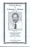 1996-01-24; Pamphlets; In Loving Memory of Soloman L Thomas