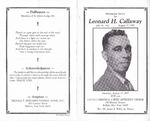 1997-08-23; Pamphlets; Homegoing Service for Leonard H Callaway