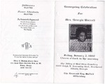1998-01-02; Pamphlets; Homegoing Celebration for Mrs. Georgia Worrell