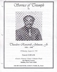 1998-08-26; Pamphlets; Service of Triumph for Theodore Roosevelt Johnson Sr.