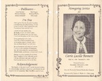 1999-02-04; Pamphlets; Homegoing Service for Carrie Lucille Bennett