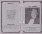 1999-02-08; Pamphlets; In Loving Memory of Lacy Lee Bass