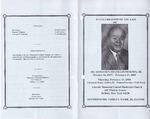 2000-02-13; Pamphlets; In Celebration of the Life of Dr. Benjamin Franklin Murphy Jr