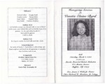 2000-03-04; Pamphlets; Homegoing Services for Venetia Elaine Byrd