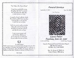 2000-06-01; Pamphlets; Funeral Services Laura Fisher