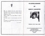 2000-06-04; Pamphlets; In Loving Memory of Emily E Lafayette