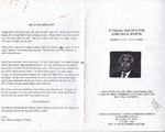 2000-07-21; Pamphlets; Funeral Service for John Beck Joseph
