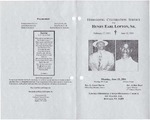 2001-06-18; Pamphlets; Homegoing Celebration Service for-Henry Earl Lofton Sr.