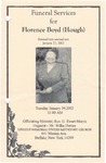 2002-01-29; Pamphlets; Funeral Services for Florence Boyd Hough