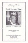 2002-08-24; Pamphlets; In Celebration of the Life of Gerald Lawrence Higgs