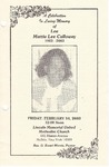 2003-02-14; Pamphlets; A Celebration In Loving Memory of Lee Mattie Lee Calloway