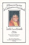 2003-06-20; Pamphlets; A Memorial Service In Celebration of the Life of Lucille Travis Edwards