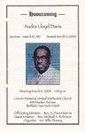 2004-03-08; Pamphlets; Homecoming Audra Lloyd Davis