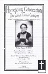 2004-08-27; Pamphlets; Homegoing Celebration for Mrs. Gertrude Leontean Cunningham